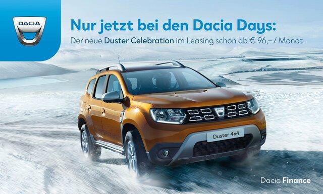 Werbebanner Dacia Duster Leasing