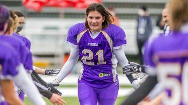 Spielerinnen der Dacia Vikings Damenmannschaft