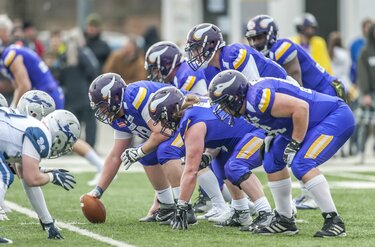 Dacia Vikings American Football Club beim spielen