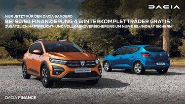Werbebanner Dacia Finanzierungsangebot