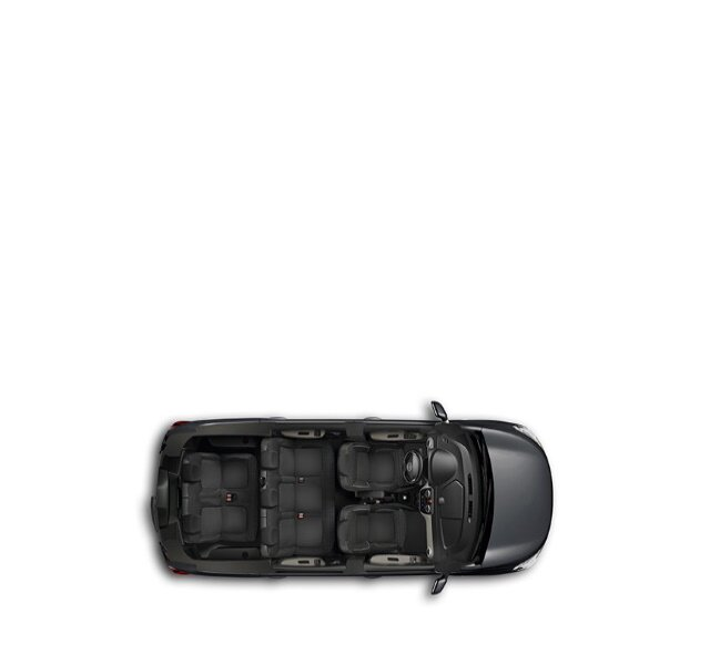 Dacia Lodgy Innenausstattung  aus der Vogelperspektive