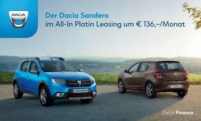 Werbebanner Dacia Sandero All-In Platn Leasing