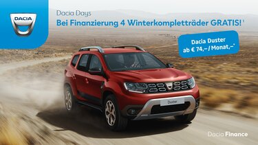 Werbebanner Dacia Duster Winterräder