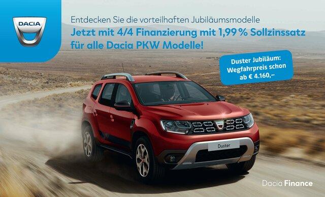 Werbebanner Dacia Duster 4/4 Finanzierung