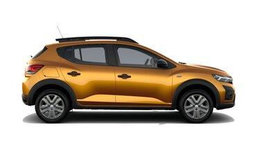 Profilansicht des neuen Dacia Sandero Stepway