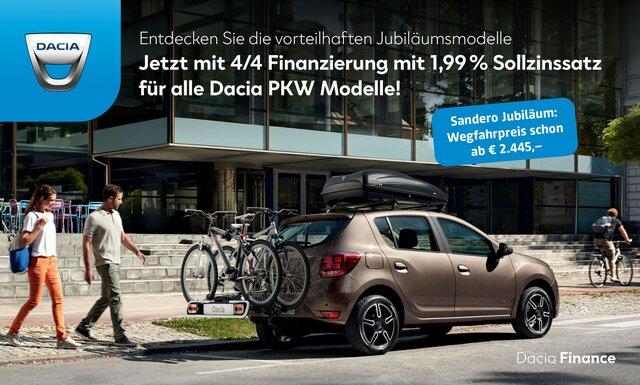 Werbebanner Dacia Sandero 4/4 Finanzierung