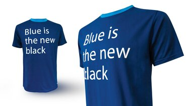 T-Shirt Blue is the new black