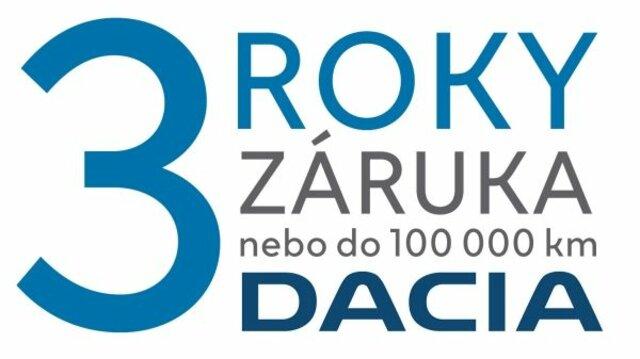 Dacia - 3 roky záruka