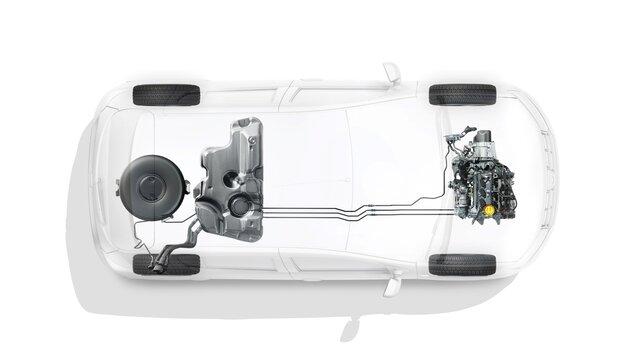 Dacia ECO-G ‒ tankovanie do nádrže na LPG