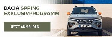 Dacia Spring exklusivprogramm