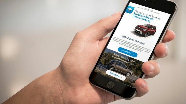 Dacia Newsletter bestellen