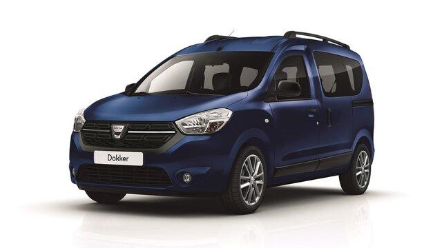 Blauer Dacia Dokker – Dachträger