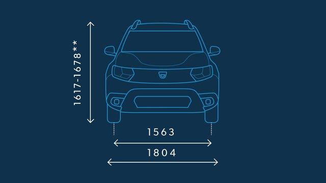 Dacia Duster – Abmessungen vorne