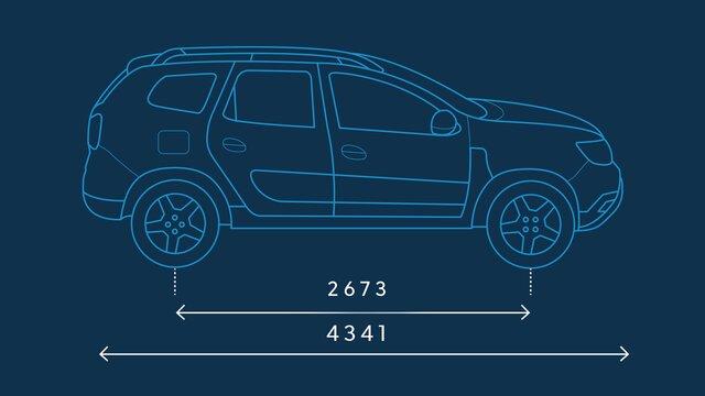 Dacia Duster – Abmessungen seitlich
