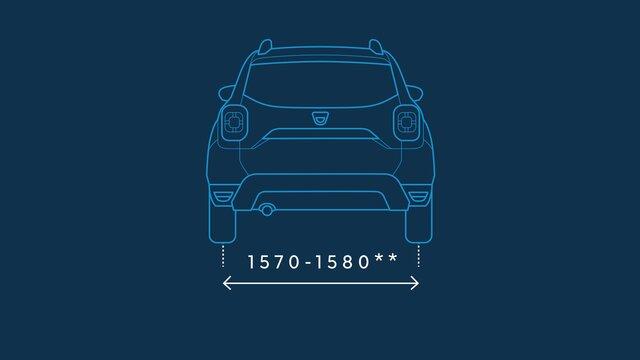 Dacia Duster – Abmessungen hinten