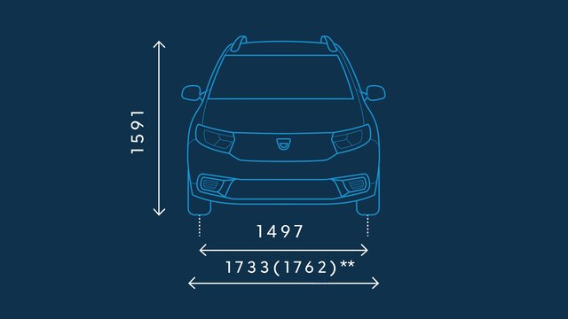 Dacia Logan MCV – Abmessungen vorne