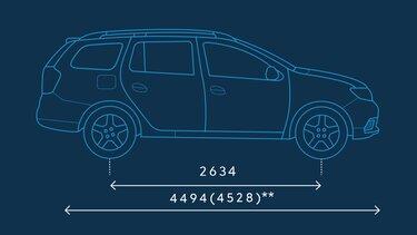 Dacia Logan MCV – Abmessungen seitlich