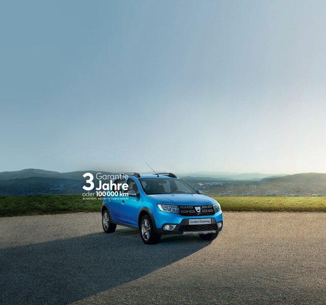 Dacia Sandero Stepway blaues Außendesign