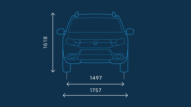 Dacia Sandero Stepway – Abmessungen vorne
