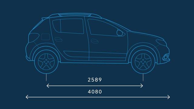 Dacia Sandero Stepway – Abmessungen seitlich