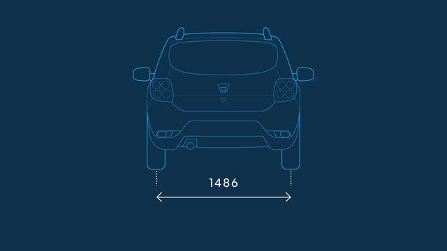 Dacia Sandero Stepway – Abmessungen hinten