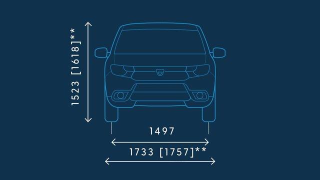 Dacia Sandero – Abmessungen vorne