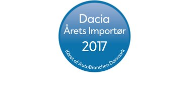 Dacia -  årets importør 2017