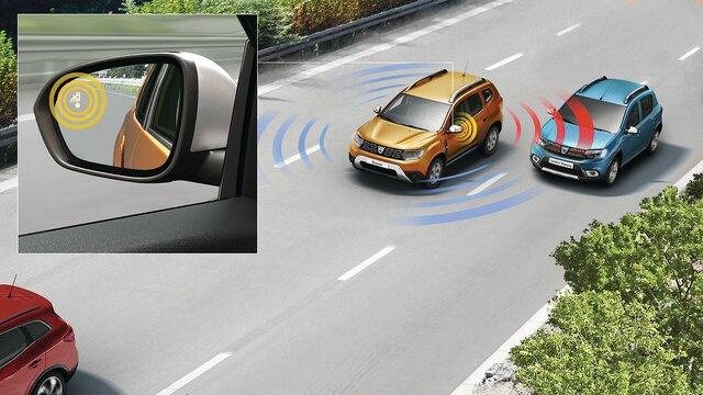 Dacia Duster Detector de ángulo muerto