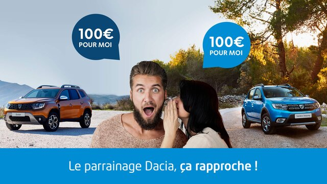 Dacia - Parrainage - Filleuls - 100 euros