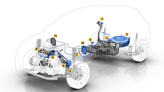 Moteur de véhicule essence-GPL