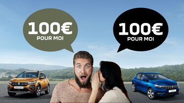 Dacia - Parrainage - 100 euros