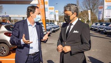 Luca De Meo, direktor Grupe Renault i Michel-Edouard Leclerc, predsjednik strateškog odbora E.Leclerc
