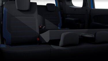 Dacia Lodgy limitált széria, belső dizájn – Dönthető középső sori ülések
