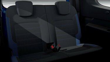 Dacia Lodgy limitált széria, belső dizájn – Hátsó sor utasülések