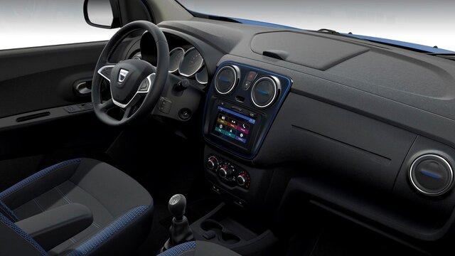 Dacia Lodgy limitált széria, külső dizájn - Kormány, műszerfal, utas nézet