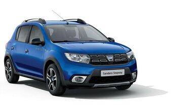 Dacia Sandero Stepway – 15<sup>th</sup> Celebration évfordulós limitált széria, háromnegyedes elölnézet