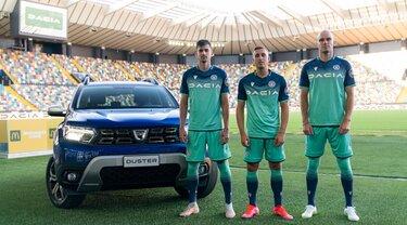 Gamma, Dacia e Udinese, maglia, identità visuale