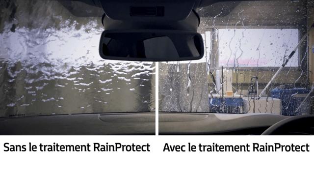Technologie RainProtect contre traitement normal