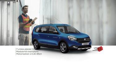 Dacia lodgy bleu 7 places pour entreprise