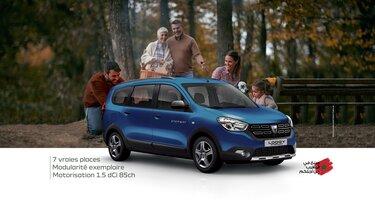 Dacia lodgy bleu 7 places familiale