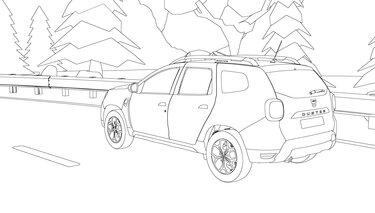 Dacia DUSTER kleurplaat