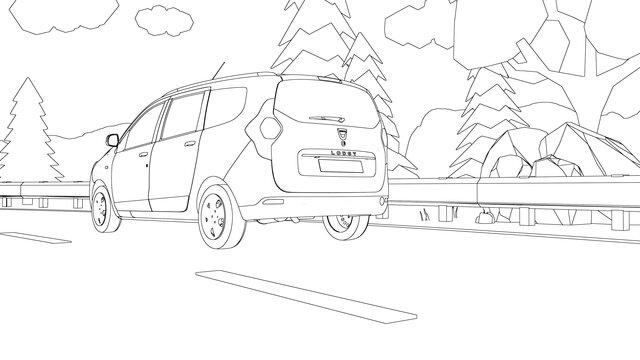 Dacia LODGY kleurplaat