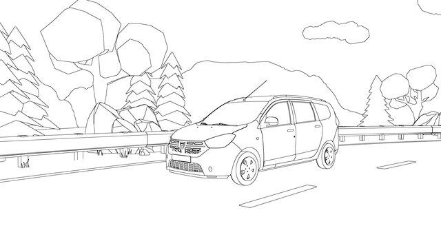 Dacia kleurplaat