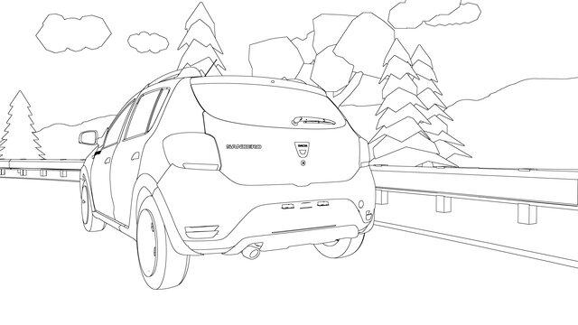 Dacia SANDERO kleurplaat