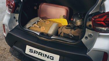 Novo Dacia Spring - caixa de bagageira reversível