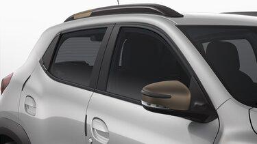 Nouvelle Dacia Sring  protections d'arêtes de portes et de rétroviseurs