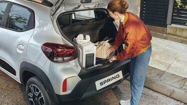 Nowa Dacia Spring pojemność bagażnika