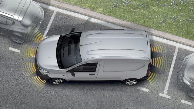 Přední a zadní parkovací asistent pro vůz Dacia Dokker Van