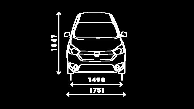 DOKKER Van – размери отпред