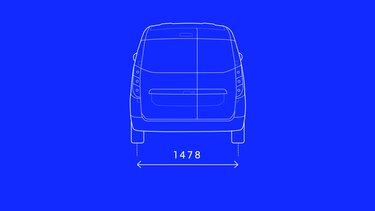 Dokker Van – Abmessungen hinten